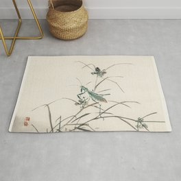 Grasshopper by Kono Bairei (1844-1895) Rug
