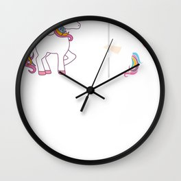 Funny Unicorn Before Coffee After Coffee T-shirts Gift Wall Clock