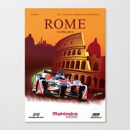 Mahindra Racing FIA Formula E Season 4 Rome E-Prix Poster Canvas Print