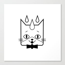 head of a cat vector icon Canvas Print
