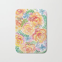 Sunshine and Roses Bath Mat
