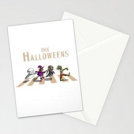 halloween street Stationery Cards