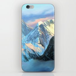 Panoramic Sunrise View Of Everest Mountain iPhone Skin