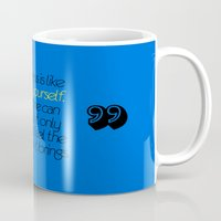 pee wee Mugs featuring Pee Yourself! by Alli Vanes