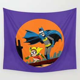 Rickman and Morbin Funny Superheroes Wall Tapestry