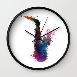 Saxophone #saxophone #sax #music #art Wall Clock