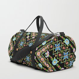 Millefiori Floral Lattice Duffle Bag