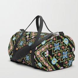 Millefiori Floral Lattice Duffle Bag