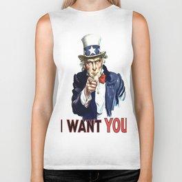Uncle Sam I Want You Biker Tank