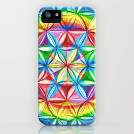 Shimmering Wheel - The Mandala Collection iPhone Case