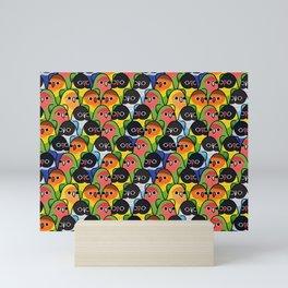 Too Many Birds love brid Mini Art Print