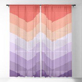 Colorful chevron decoration Sheer Curtain