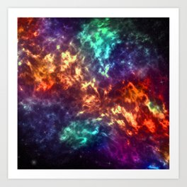 Color Explosion Art Print