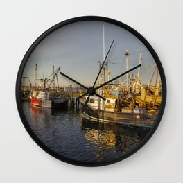 Fishing Boats, Provincetown Wall Clock