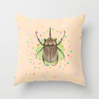 insect Throw Pillows featuring Insect I by dogooder