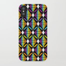 Abstract [RAINBOW] Emeralds pattern iPhone Case