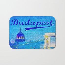 Budapest, light blue Bath Mat