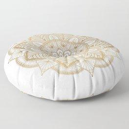 Mandala Beige Creamy Pattern 1 Floor Pillow