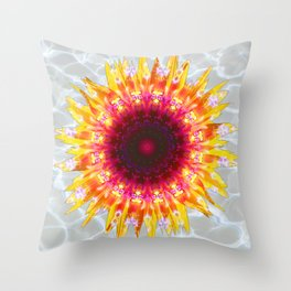 sunflower happiness Throw Pillow
