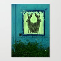 bunnies Canvas Prints featuring bunnies by sustici