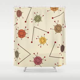 Atomic Era Autumn Shower Curtain