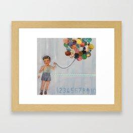 boy balloon Framed Art Print