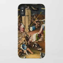 The Garden of Earthly Delights - Bosch - Hell Bird Man Detail iPhone Case