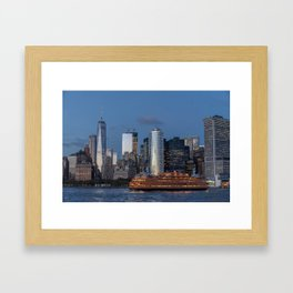 NYC and Staten Island Ferry Framed Art Print