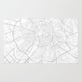 Moscow, Russia Minimalist Map Rug
