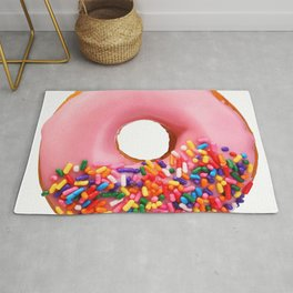 Funny Pattern With Juicy And Tasty Donut Rug