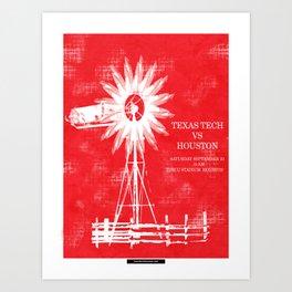 High Plains Houston - TTU vs UH 09/23/17 Art Print