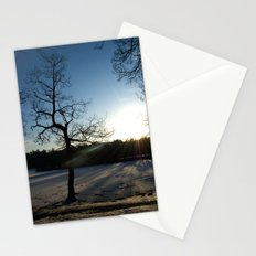 Snowy Sunset Stationery Cards