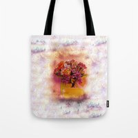 flora Tote Bags featuring Flora  by Music of the Heart