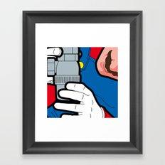 The secret life of heroes - Game at Work Framed Art Print