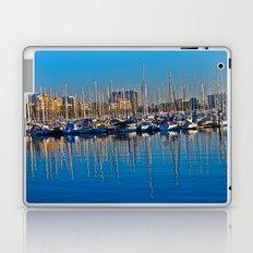 Boats in the Harbor: Barcelona, Spain Laptop & iPad Skin