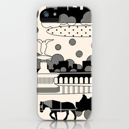 central park snow iPhone Case