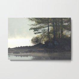 Morning fog on the lake Metal Print