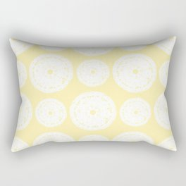 White Doilies w/ a Light Yellow Background (Style 1) Rectangular Pillow