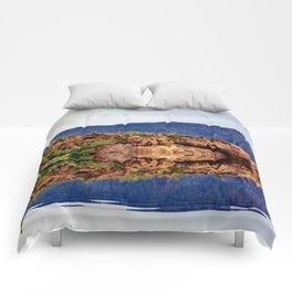Desert Mountain Reflection Comforters