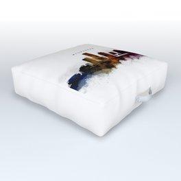 Milwaukee Watercolor Skyline Outdoor Floor Cushion