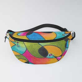 Abstract Gradient Critters Fanny Pack