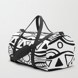 Four Waves - Freestyle Tribal Doodle Design Duffle Bag