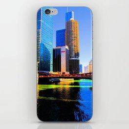 Clark St. Bridge, Chicago (Pop) iPhone Skin
