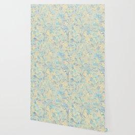 Marbled Flowers Wallpaper