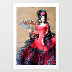 Flamenco doll  Art Print