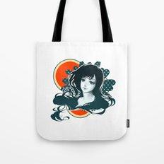 Polka Dot Flower Tote Bag