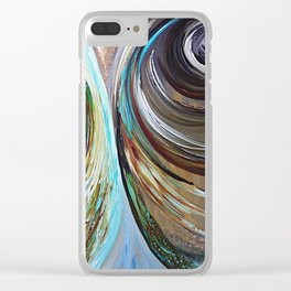 Peacock Trail Clear iPhone Case