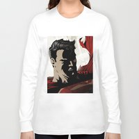 man of steel Long Sleeve T-shirts featuring MAN OF STEEL by Taylor Callery Illustration