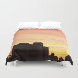 Orange sunset Duvet Cover