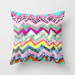 Rainbow Abstract Geometric  Throw Pillow